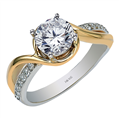 14K T/T split shank 0.15 ct. diamond engagement ring